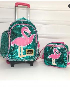 Flamingo Reversible Sequin Trolley