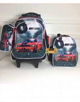 Orla Cars Trolley Backpack Set